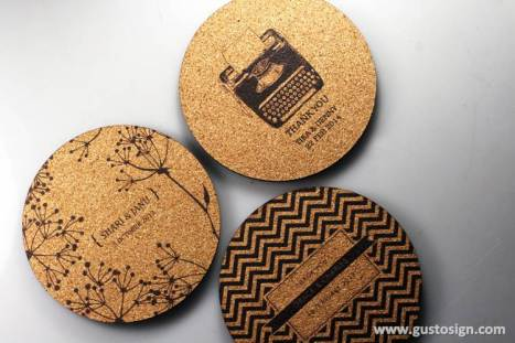 Cork Coaster - Weddingku Gusto (1)