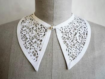 Laser cut lace collar