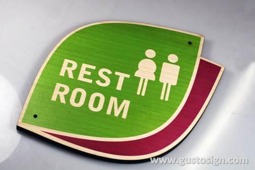 Restroom Sign - Gusto SIgn (2)