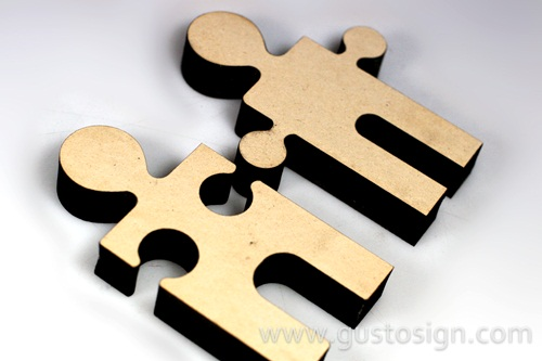 Puzzle MDF Laser Cut - Gusto Sign (1)