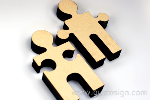 Puzzle MDF Laser Cut - Gusto Sign (5)