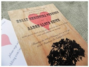 wedding invite on veneer1
