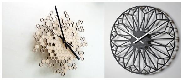 Laser Cut Wall Clocks