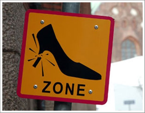 broken heel zone