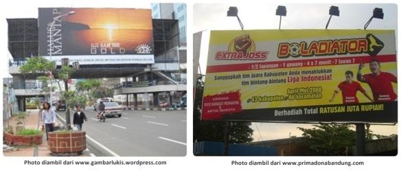 Billboard gambar lukis primadona
