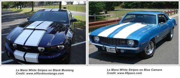 Le Mans Stripes on Mustang and Camaro