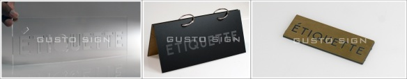 Hang Tag - Gusto Sign