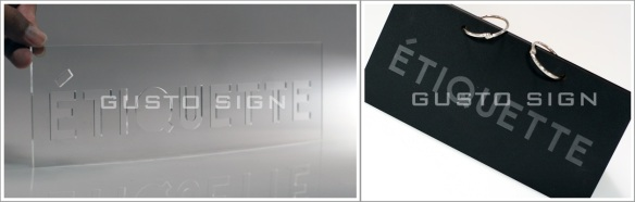 Laser Cutting Engraving - Gusto Sign (1)