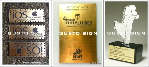 Laser Engrave on Gravoply - Gusto Sign (1)