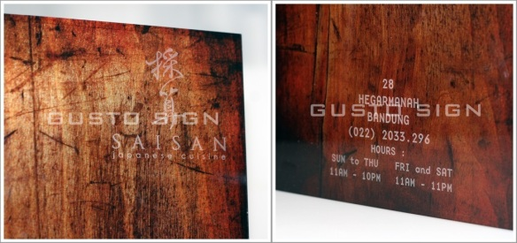 Laser Engraving - Gusto Sign (2)
