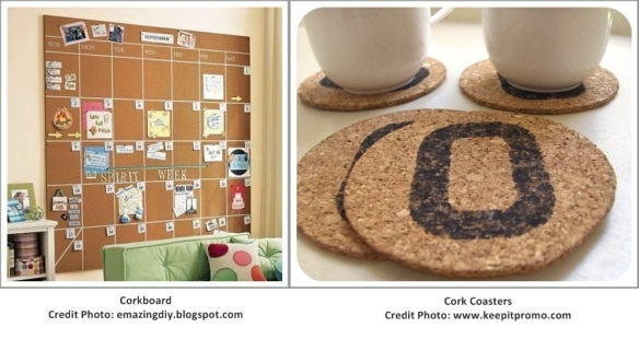 Corkboard and Coasters